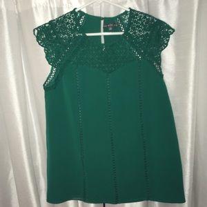 Emerald Green Crochet lace light top